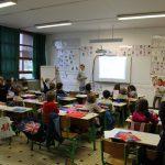 Videoprojection dans une salle de classe